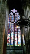 Stained glass in Rouen Cathedral