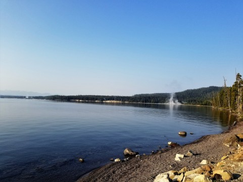 Geysers at the West Thumb of Yellowstone Lake