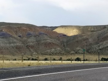 Painted Hills on the western edge of Wind River Reservation (same as day 1)